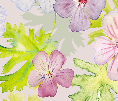 Spring flowers fabric by makato_design on Spoonflower - custom fabric
