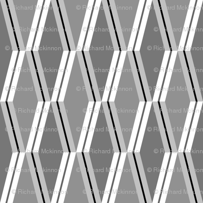 Folded Deco Stripe Silver