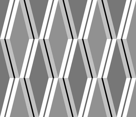 Folded Deco Stripe Silver fabric by stitchyrichie on Spoonflower - custom fabric
