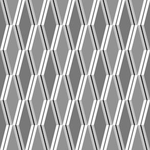 Folded Deco Silver Stripe 12x12