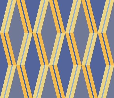 Folded Deco Sunray Stripe  fabric by stitchyrichie on Spoonflower - custom fabric