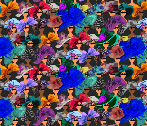 Horse Race Millinery fabric by anneostroff on Spoonflower - custom fabric