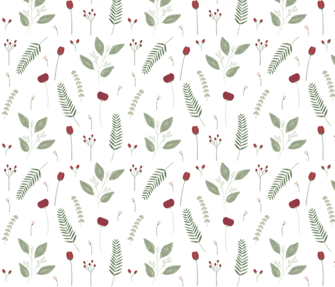 winterblumen fabric by janaotto on Spoonflower - custom fabric