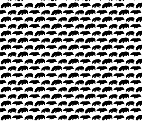 3 Hippo shadows fabric by combatfish on Spoonflower - custom fabric