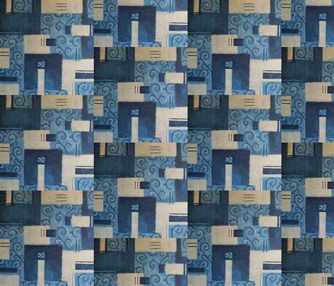 Blue Dream Swirl fabric by tiffany_budd on Spoonflower - custom fabric