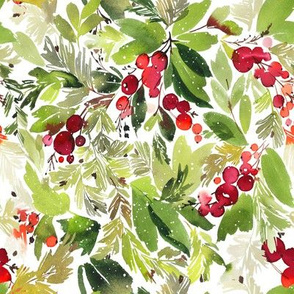"8"" Christmas Holiday Florals"
