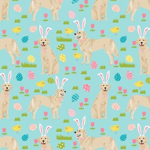 golden retriever easter dog breed fabric for spring blue