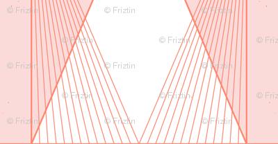 Deco Diamond Stripe M+M Coral Bubblegum by Friztin