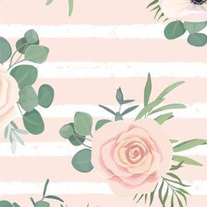 """12"""" Flower Voyage // Peach Stripes"""