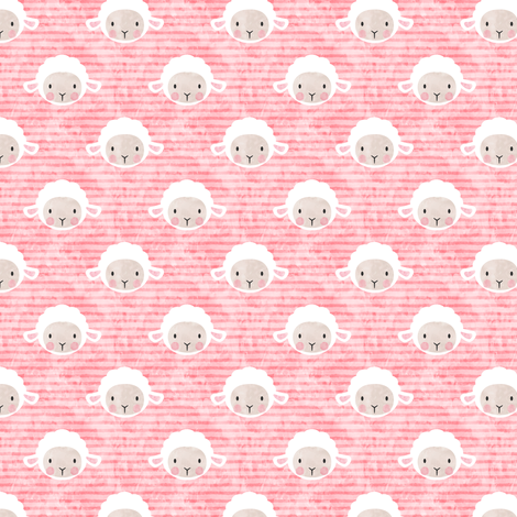 "3/4"" little lamb - pink - C18BS fabric by littlearrowdesign on Spoonflower - custom fabric"