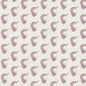 "3/4"" unicorn || pink stars - C18BS"