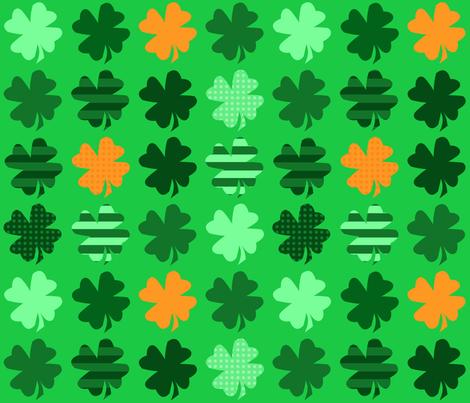 Irish Clovers fabric by bags29 on Spoonflower - custom fabric