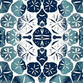 sand dollar -gradient navy, aqua, and white