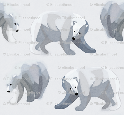 Glacier Bears - Charcoal [Large Scale]