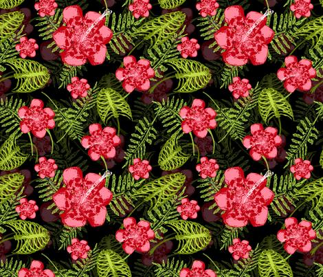 death in paradise  2 fabric by b0rwear on Spoonflower - custom fabric