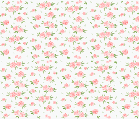 Soft Pink Floral fabric by courtneyrosedesign on Spoonflower - custom fabric