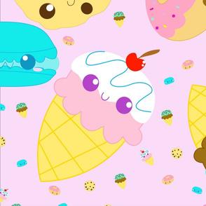 Sweet Pattern baby pink