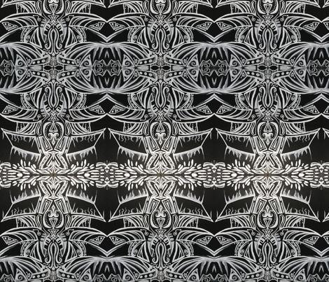 Black Royal ~v.2 fabric by amaizink_art on Spoonflower - custom fabric