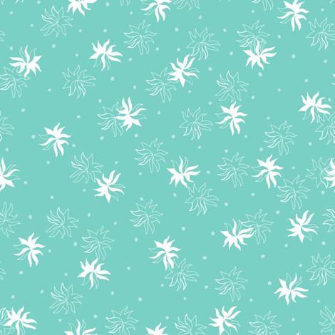 Seaweed - Seagreen Background fabric by aliwilkinsondesigns on Spoonflower - custom fabric