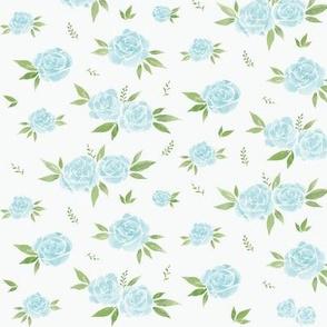Soft Blue Floral