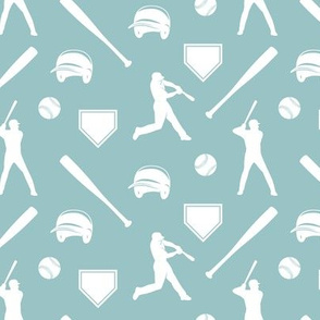 baseball fabric - blue