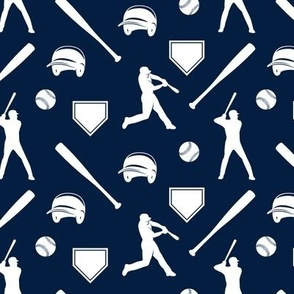 baseball fabric - navy