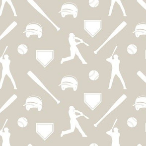 baseball fabric - beige