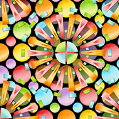 Candy Rainbow Mandala