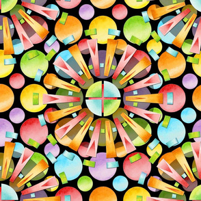 Candy Rainbow Mandala
