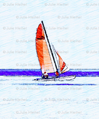 Sailboats on blue waters
