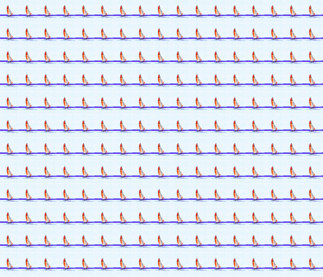 Sailboats on blue waters fabric by crafters_b_crazy on Spoonflower - custom fabric