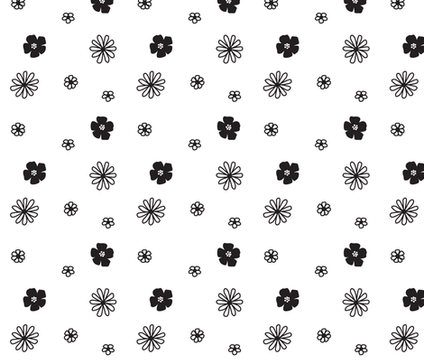 Flower field fabric by ireneflorentina on Spoonflower - custom fabric