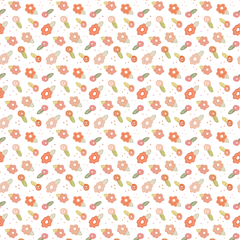 Petite Fleurs White fabric by montgomeryfest on Spoonflower - custom fabric