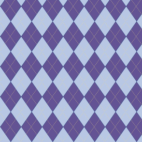 Off to Races Double Ultra Violet Gold Trim