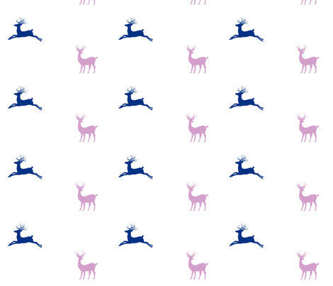 Deer 7 - purple passion fabric by drapestudio on Spoonflower - custom fabric