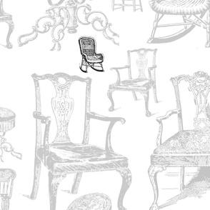 chairs: black/white