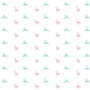 Deer 414 - pink mint