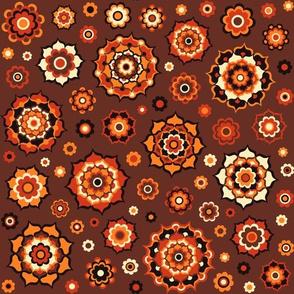 Mini mandalas autumn colours