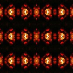 Distorted flowered candel