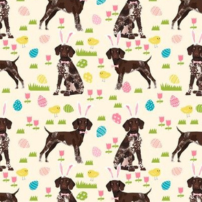 german shorthair pointer easter dog breed pet fabric lite yellow