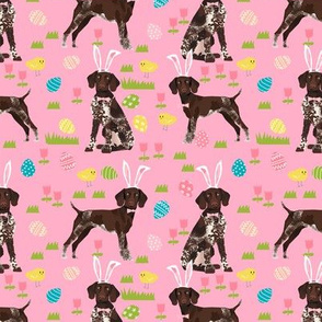 german shorthair pointer easter dog breed pet fabric pink