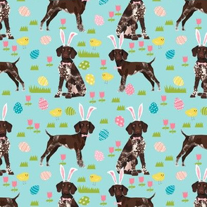 german shorthair pointer easter dog breed pet fabric teal
