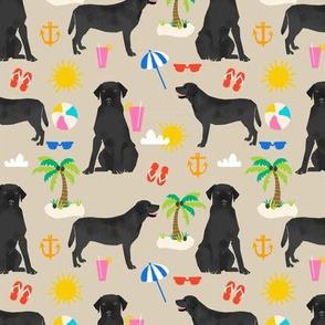 Black Lab labrador retriever beach summer dog breed fabric tan