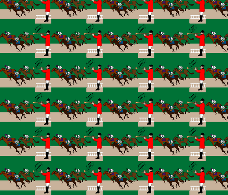 derby day off to the races fabric by twix on Spoonflower - custom fabric