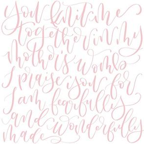 Psalms 139 Handwritten