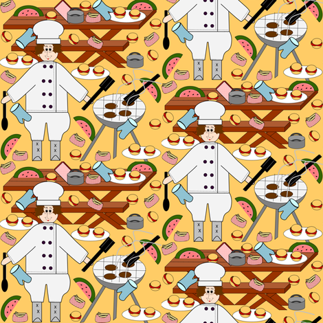 The Summer Cookout Challenge fabric by lworiginals on Spoonflower - custom fabric