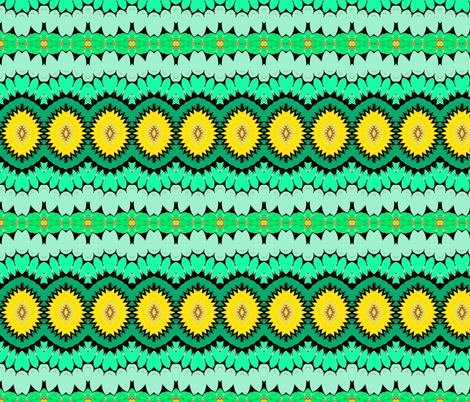 green and yellow fruits  fabric by heikou on Spoonflower - custom fabric