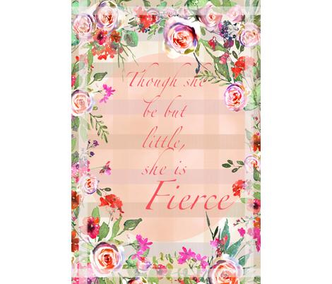 Baby Girl Crib Blanket Watercolor Roses fabric by lauriekentdesigns on Spoonflower - custom fabric