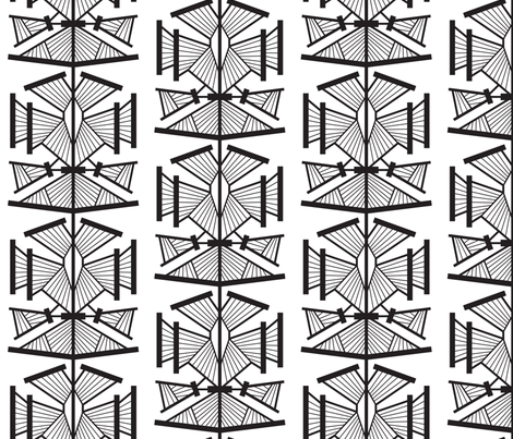 Deco Modern (Black and White) LARGE fabric by brendazapotosky on Spoonflower - custom fabric