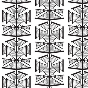 Deco Modern (Black and White) SMALL